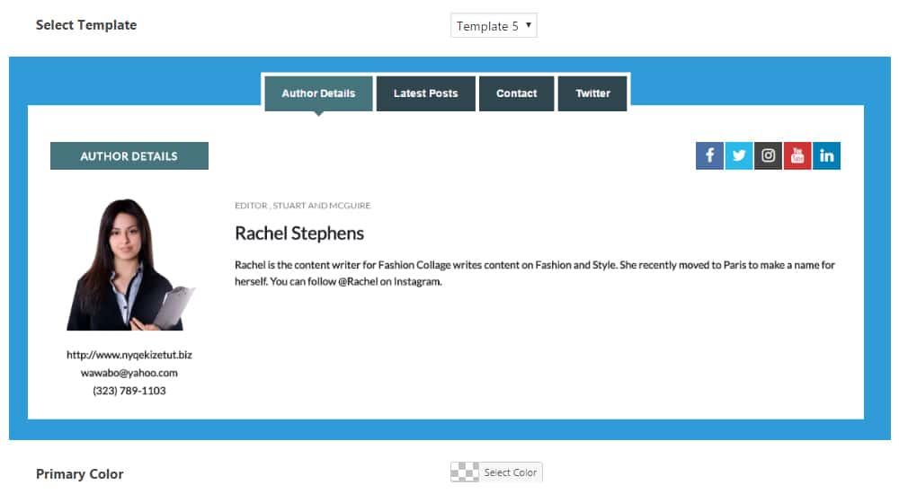 Configuring Author Bio