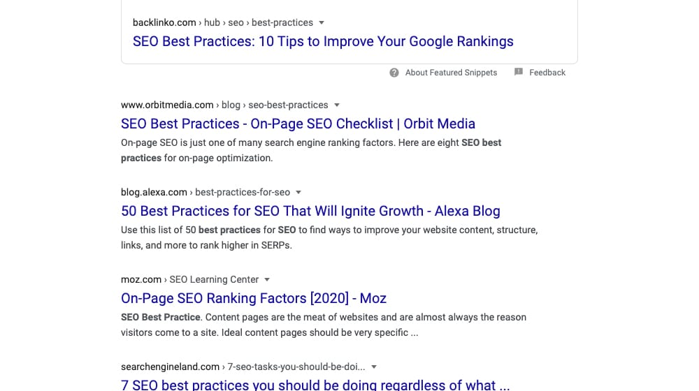 Example Serps