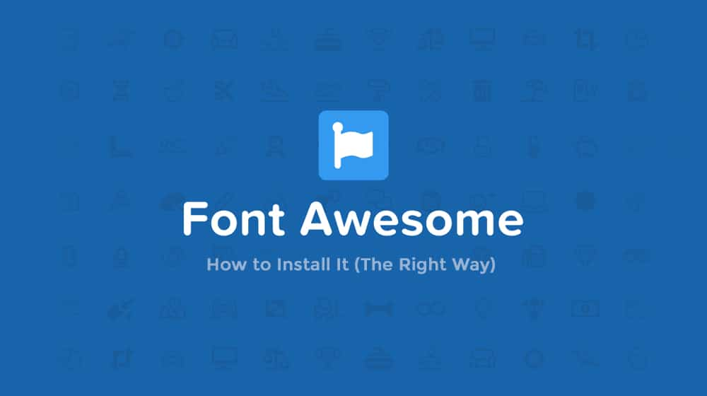 FontAwesome How to Install