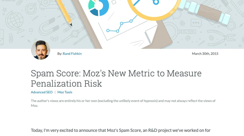 Moz Spam Score Announcement