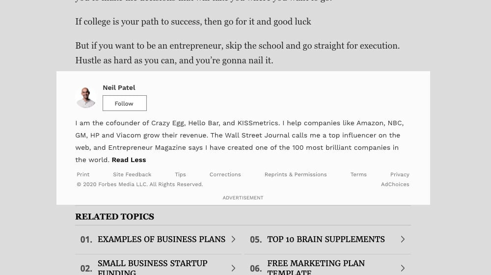 Neil Patel Author Bio