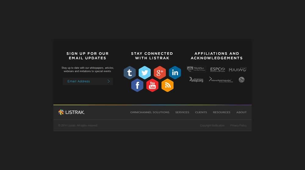Social Links in Footer