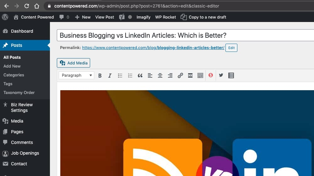 Writing for Business Blog