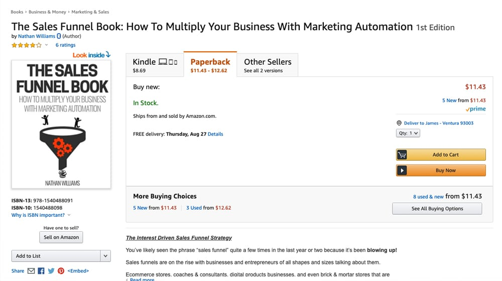 Book on Sales Funnels