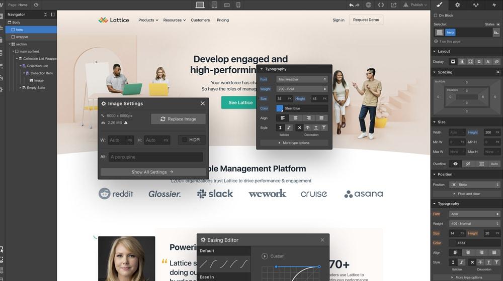 Design in Webflow