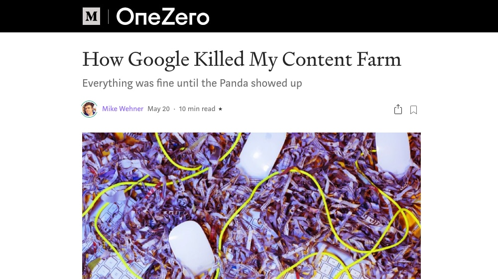 Google Killed Content Farm