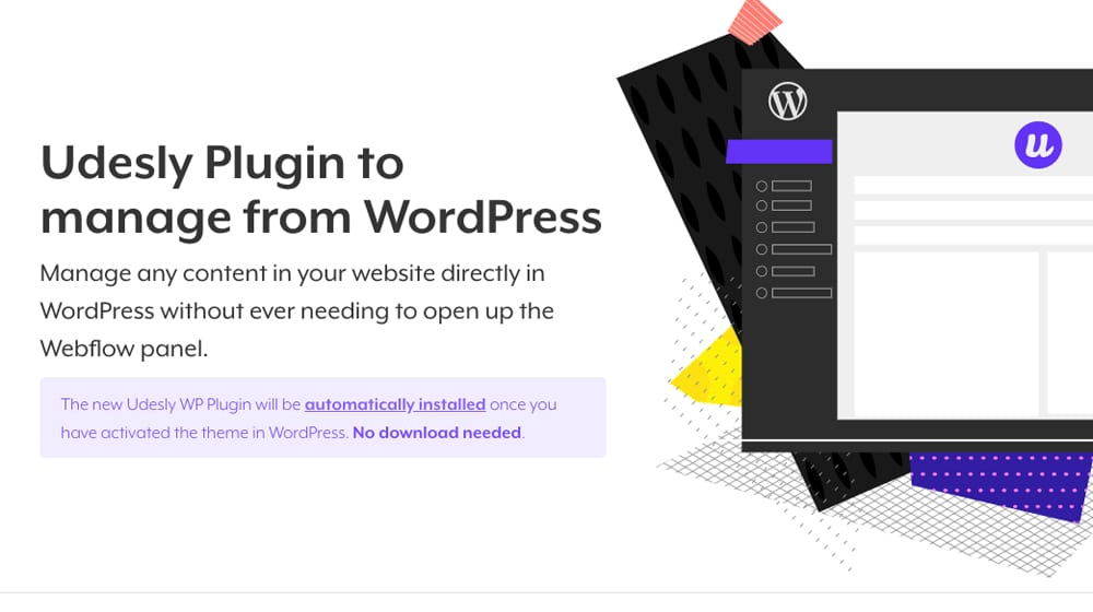 Manage Webflow from WordPress