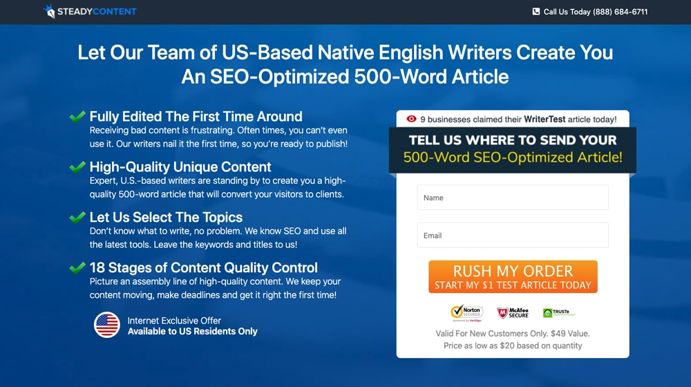 Marketing Advertorial for 500 Words