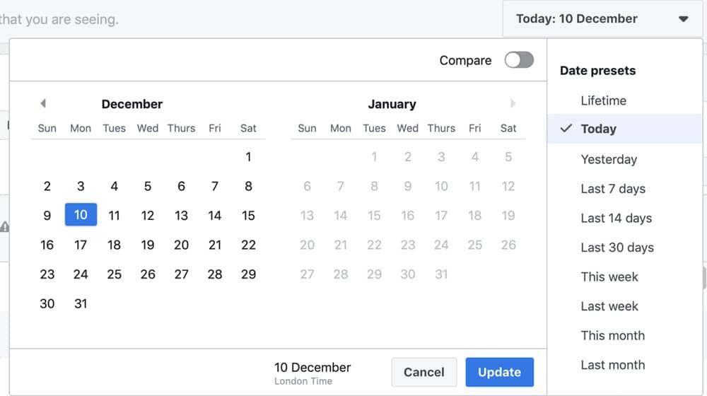 Seasonal Dates