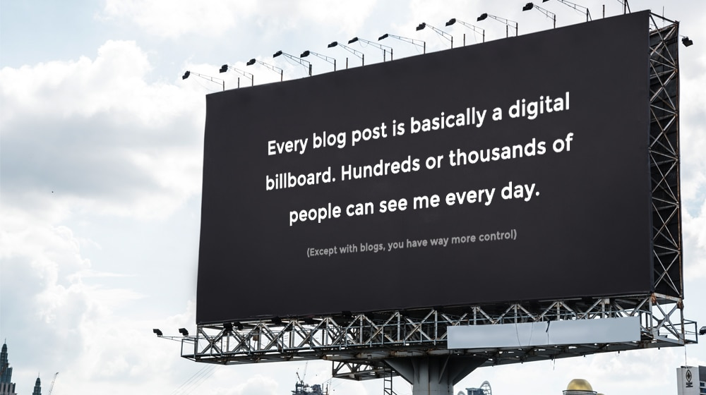 Billboard Example Comparing to Blog Posts
