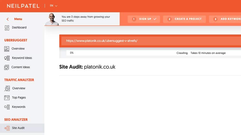 Site Audit Crawling