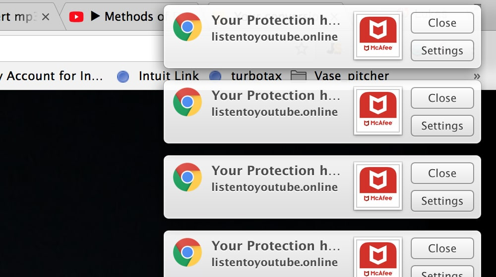 Browser Notification Spam