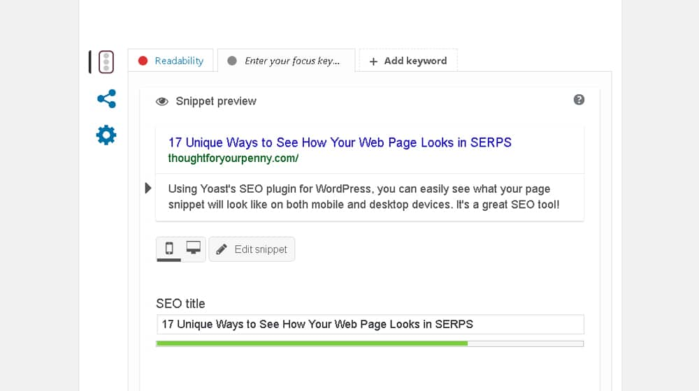How Web Page Looks in SERPs