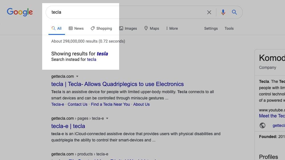Tecla Results