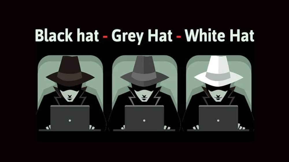 White Grey and Black Hat