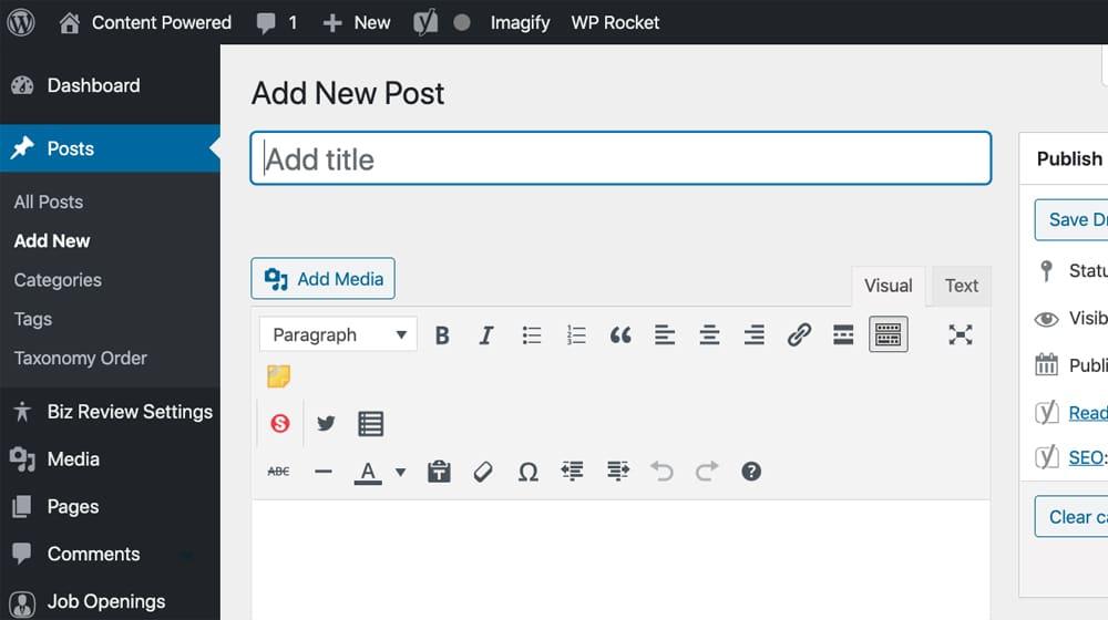 Adding a New Blog Post
