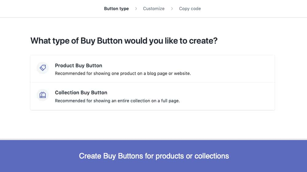 Creating a Buy Button with an App