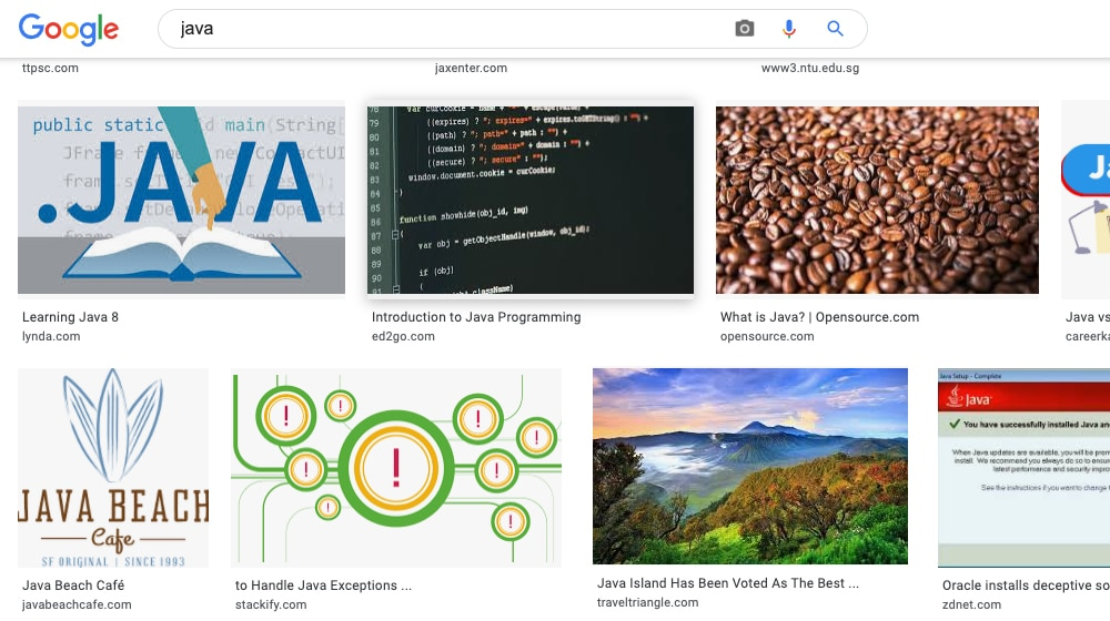 Java Search
