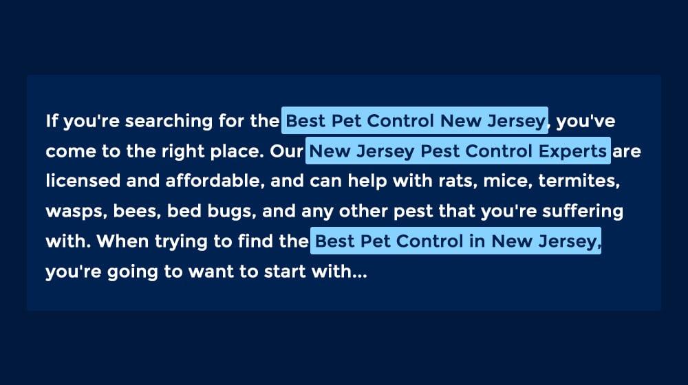 Pest Control Example