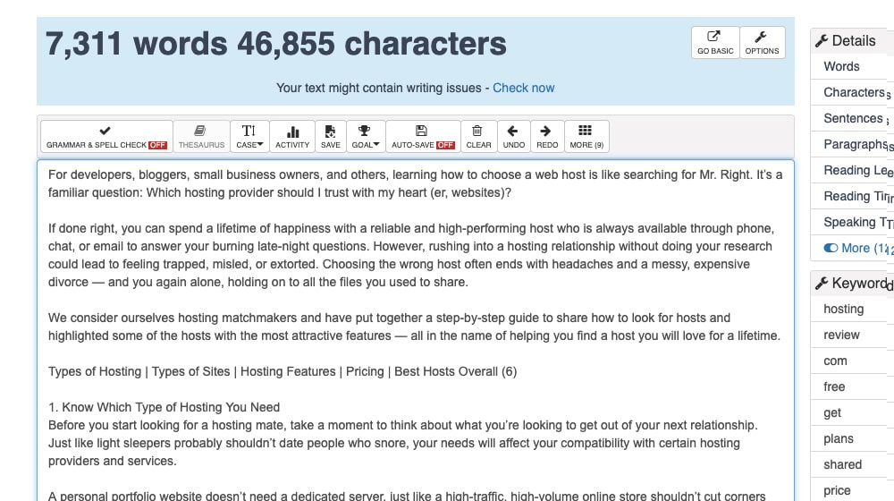 Web Host Article