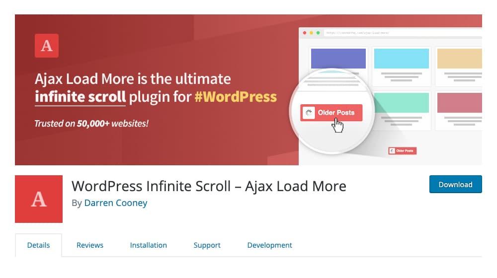 WordPress Infinite Scroll