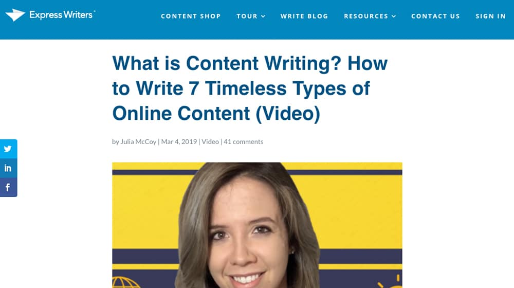 Content Writing Post