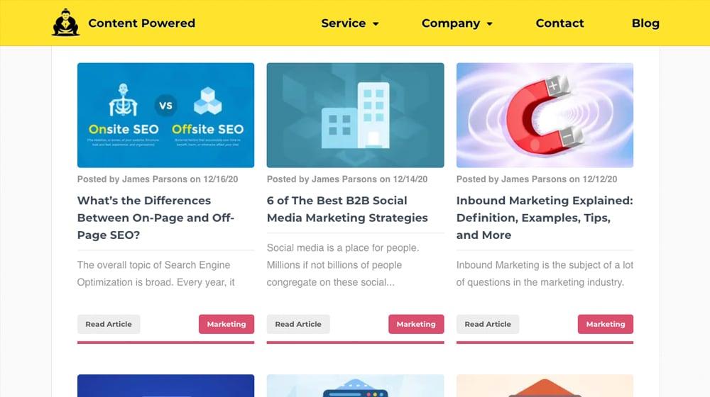 Example Blog Posts