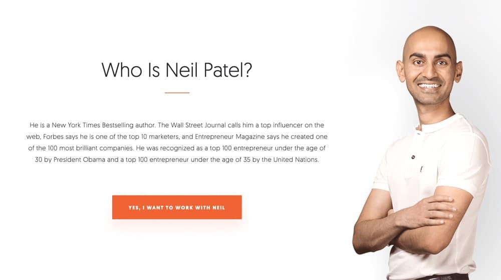Neil Patel About Page