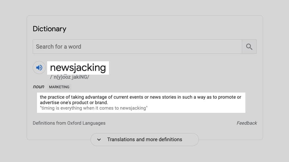 Newsjacking Definition