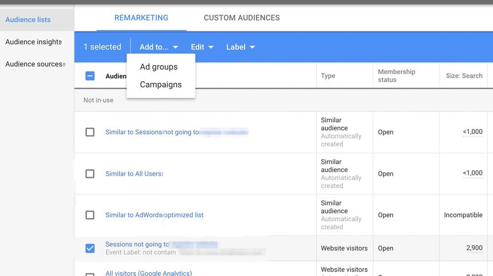 Retargeting Google Ads