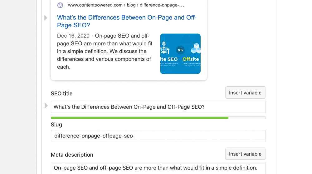 SEO Title and Description