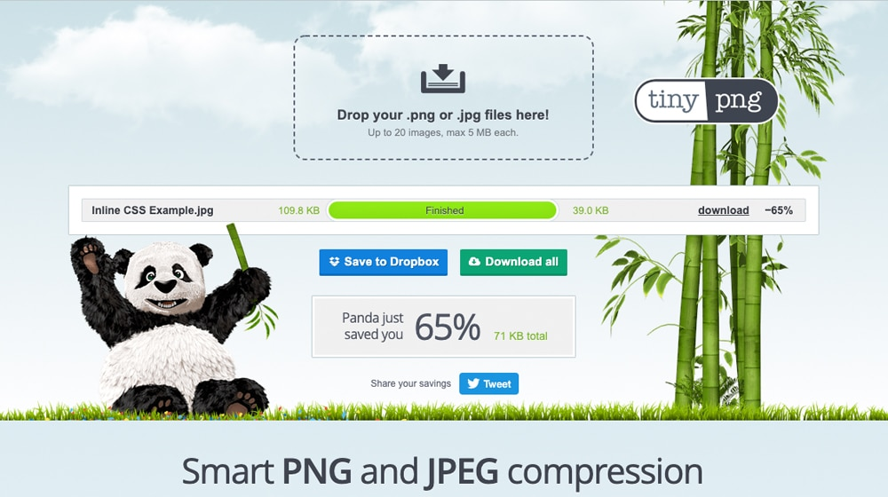 TinyPNG Homepage