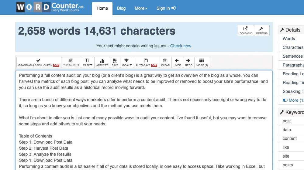 Word Count Website