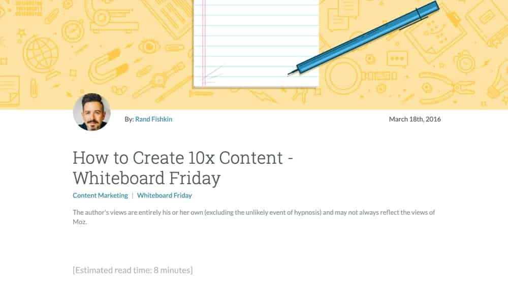 10x Content on Moz