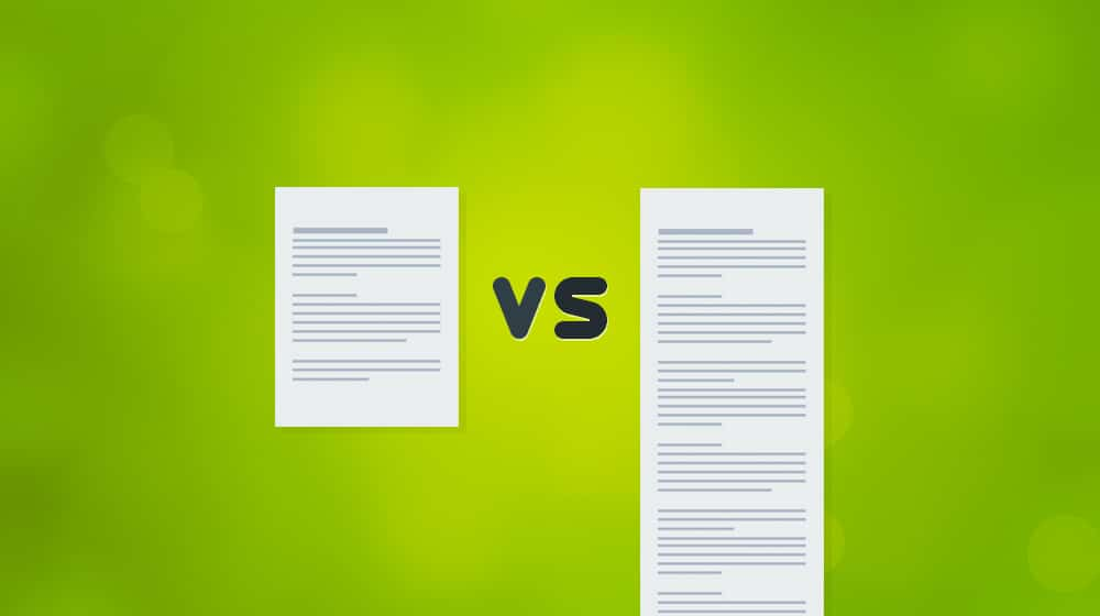 Longform vs Shortform