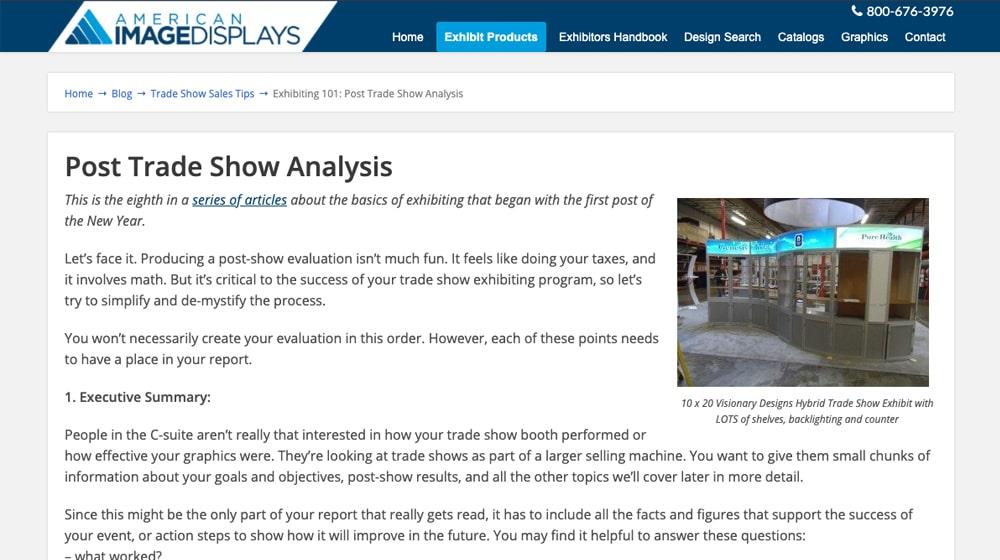 Trade Show Analysis