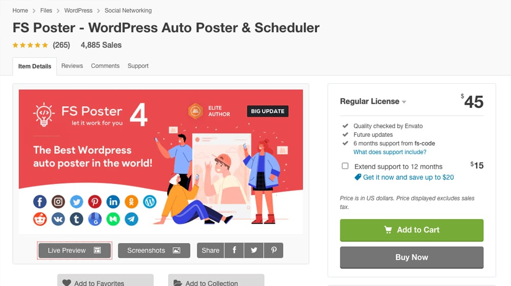 FS Poster on CodeCanyon