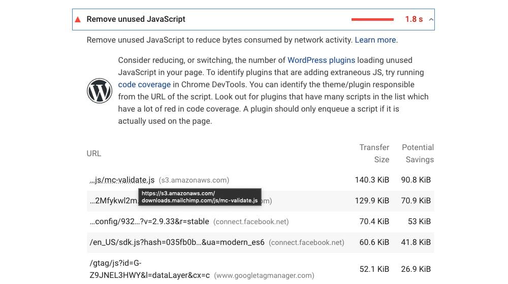 Unused JS in WordPress Plugins
