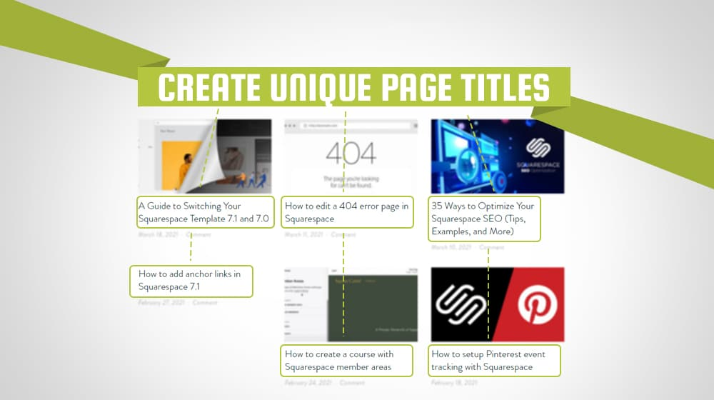 Creating Page Titles