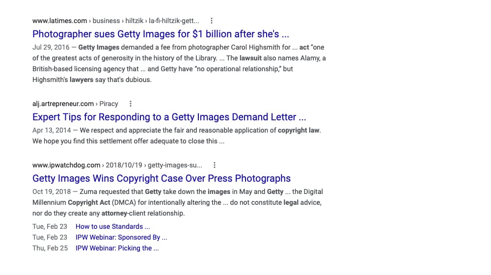 Searching Google for Copyright Notice