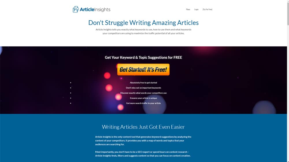 Article Insights