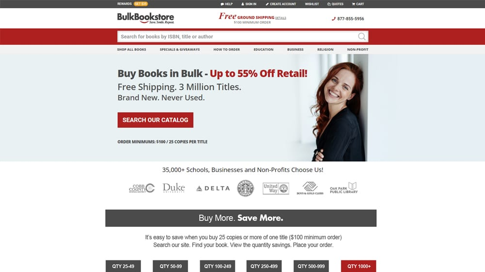 Bulk Bookstore SIte