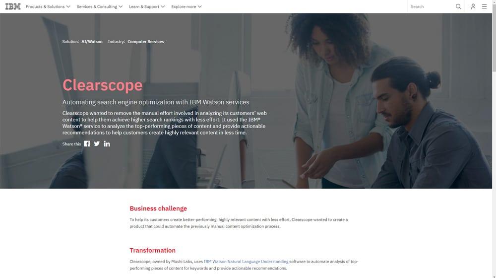 Clearscope IBM