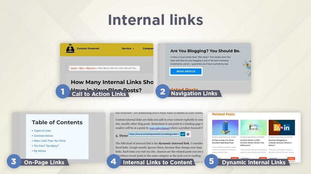 Internal Link Examples