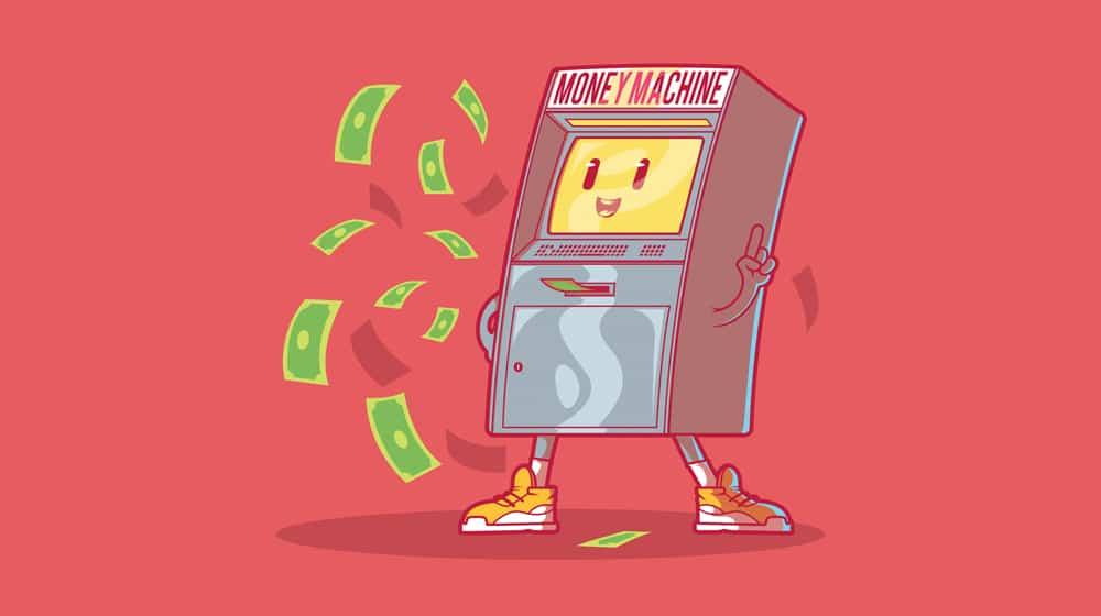 Money Machine Illustration