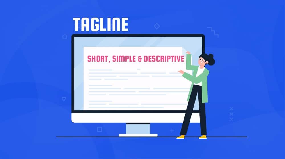 Tagline Illustration Short Simple Descriptive