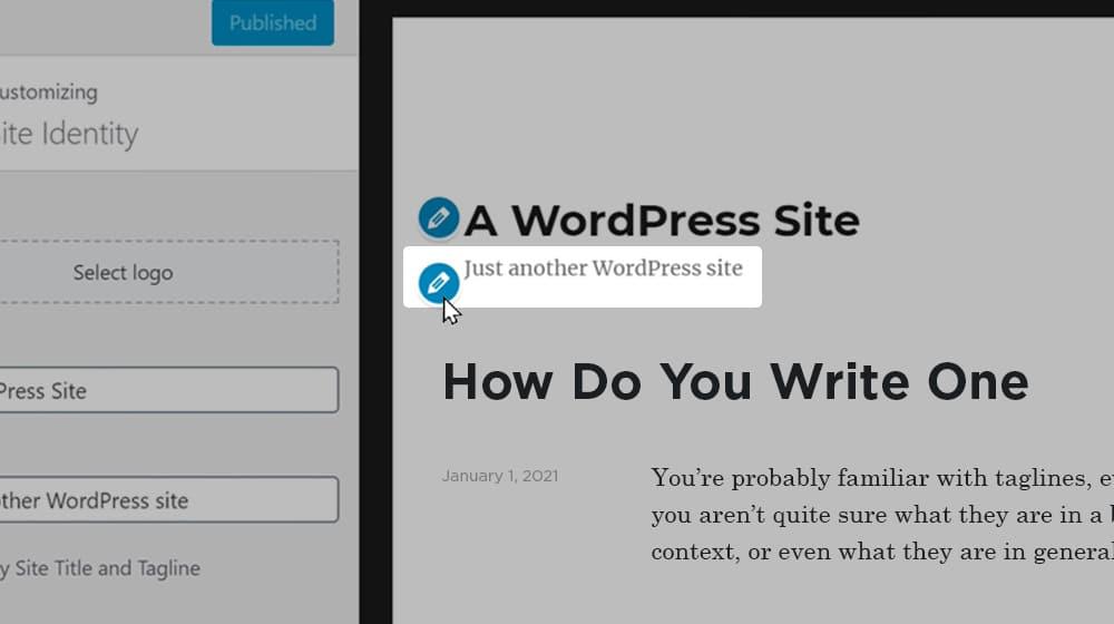 WordPress Default Tagline