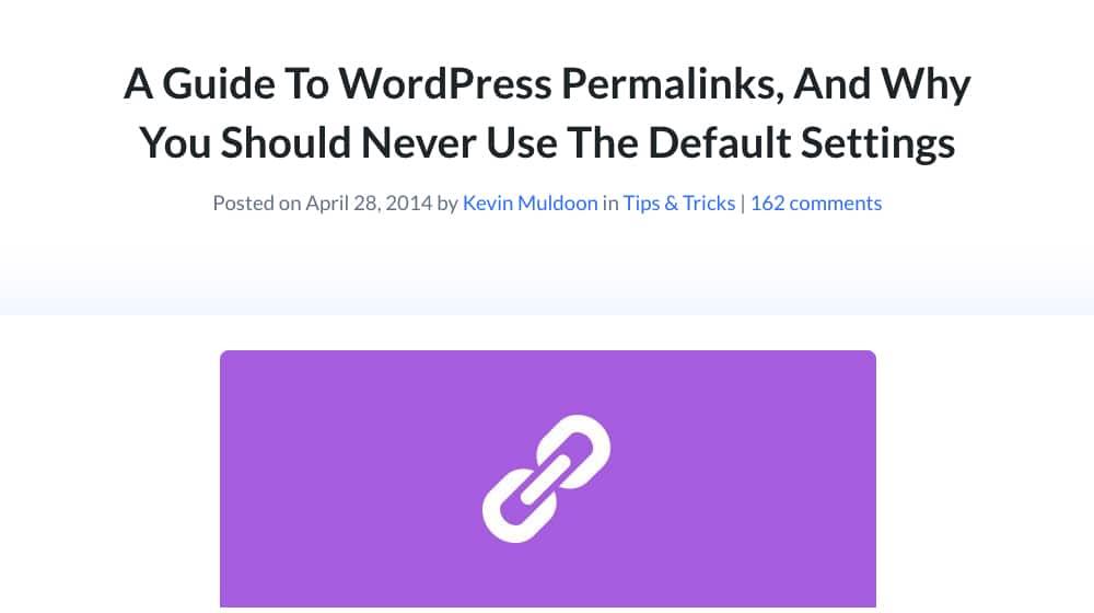 Default Permalinks Guide