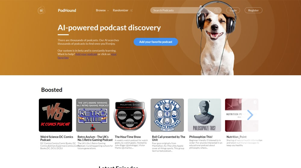 Podhound Homepage