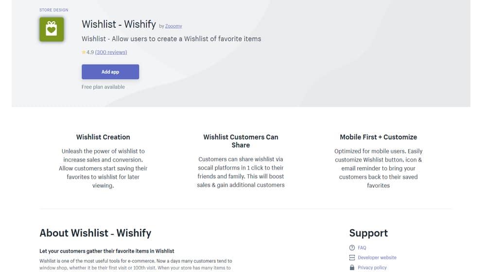 Wishify Wishlist App